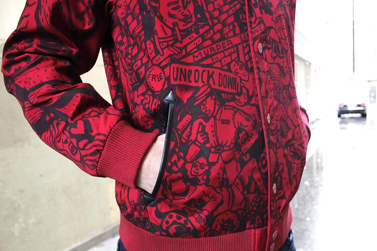ckeja jacket custom red